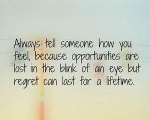 Življenje brez obžalovanj